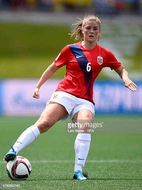 Maren Mjelde of Norway runs with the ball during the FIFA Women's World Cup 2015 Group B match between Norway and Thailand at Lansdowne Stadium on...
