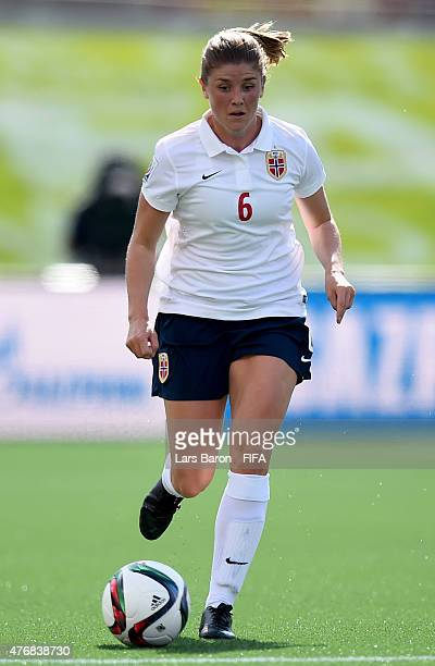 Maren Mjelde of Norway runs with the ball during the FIFA Women's World Cup 2015 Group B match between Germany and Norway at Lansdowne Stadium on...