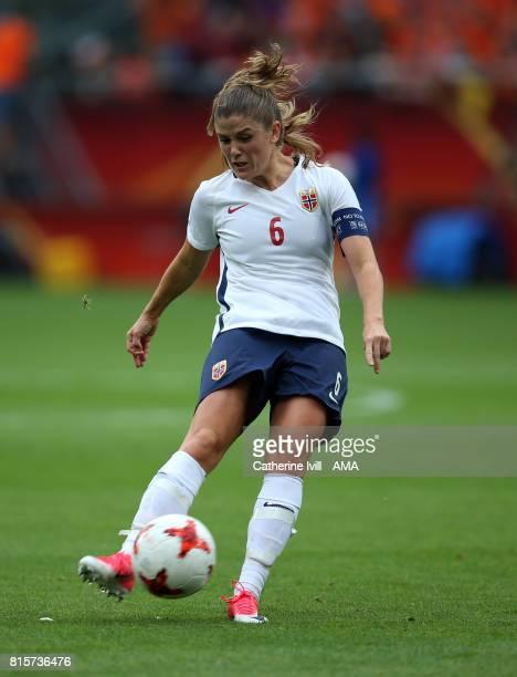 Maren Mjelde of Norway Women during the UEFA Women's Euro 2017 Group A match between Netherlands and Norway at Stadion Galgenwaard on July 16 2017 in...