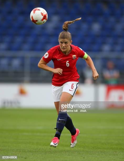 Maren Mjelde of Norway Women during the UEFA Women's Euro 2017 match between Norway and Belgium at Rat Verlegh Stadion on July 20 2017 in Breda...