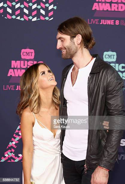 Maren Morris and Ryan Hurd attend the 2016 CMT Music awards at the Bridgestone Arena on June 8 2016 in Nashville Tennessee