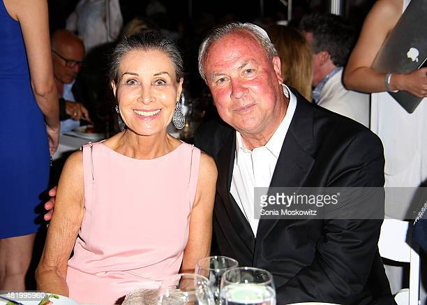 Maren Otto and Robert Wilson attend the 22nd Annual Summer Benefit and Auction 'Circus of Stillness' at The Watermill Center on July 25 2015 in Water...