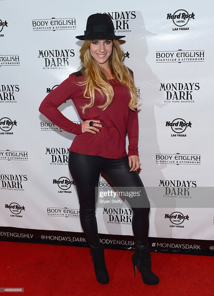 Maren Wade arrives at Mondays Dark with Mark Shunock charity event at the Body English Nightclub inside the Hard Rock Hotel & Casino on November 18, 2013 in Las Vegas, Nevada.