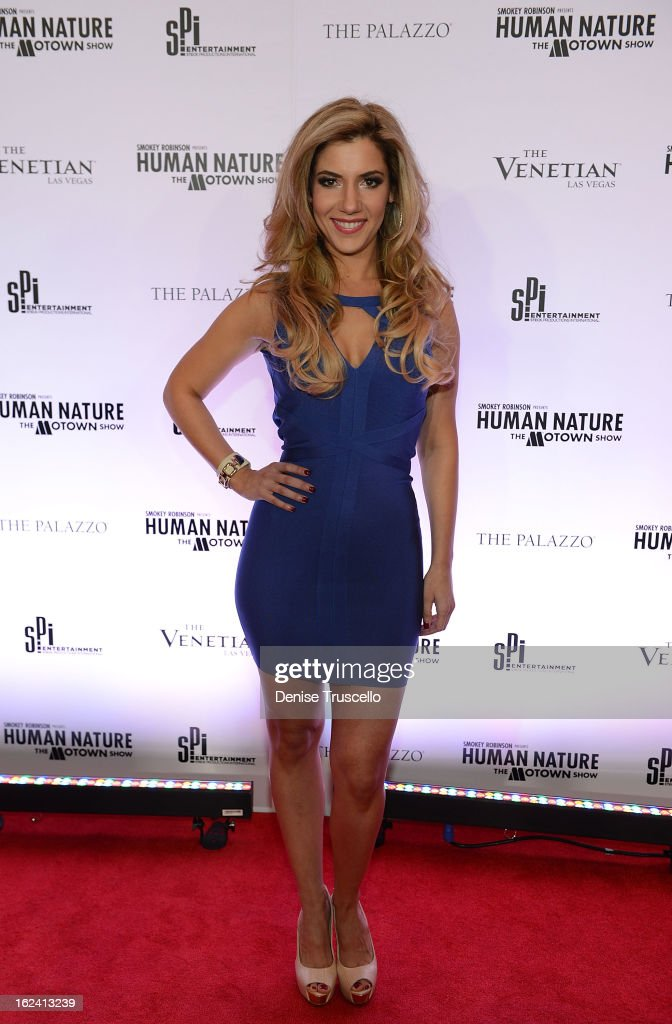 Maren Wade arrives at 'Smokey Robinson Presents Human Nature: The Motown Show' opening at The Venetian Resort Hotel Casino on February 22, 2013 in Las Vegas, Nevada.