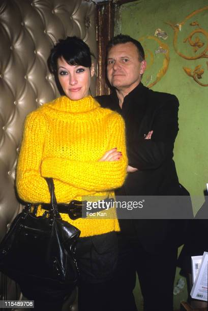 Mareva Galanter and Jean Charles de Castelbajac during Bordel Magazine Tribute to Patrick Dewaere January 23 2007 at Reservoir Club in Paris France