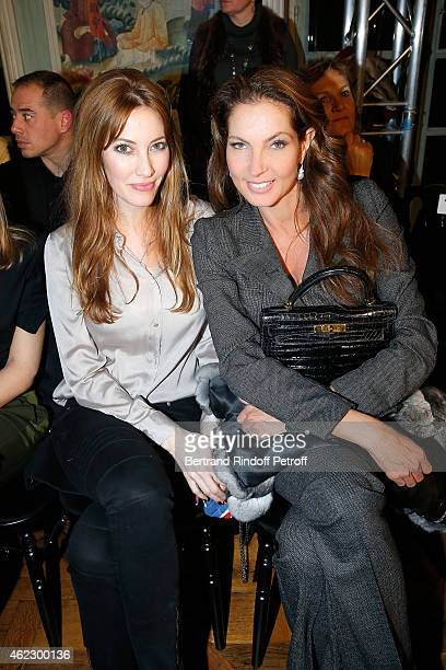 Mareva Galanter and Mareva Georges attend Alexis Mabille show as part of Paris Fashion Week Haute Couture Spring/Summer 2015 on January 26 2015 in...