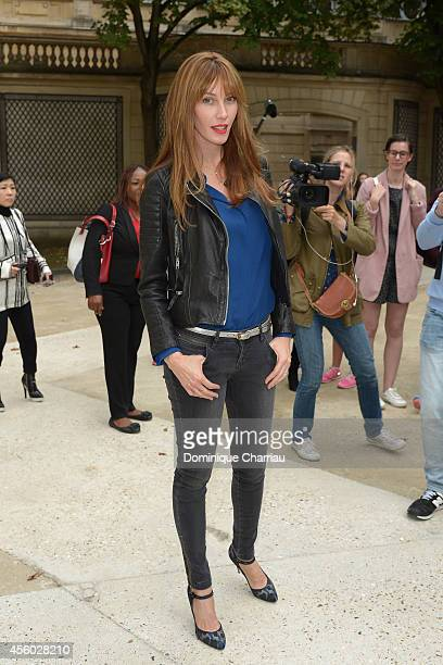 Mareva Galanter attends the Alexis Mabille show as part of the Paris Fashion Week Womenswear Spring/Summer 2015 on September 24 2014 in Paris France