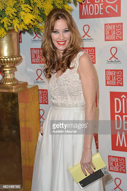 Mareva Galanter attends the Sidaction Gala Dinner 2015 at Pavillon d'Armenonville on January 29 2015 in Paris France