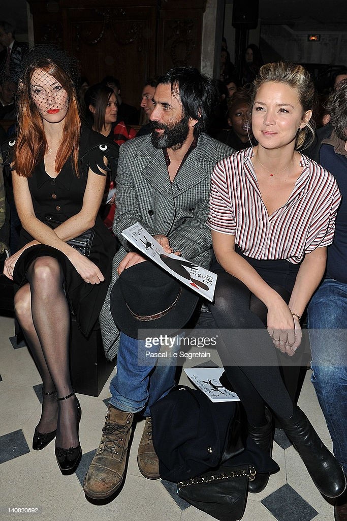 Mareva Galanter Samuel Benchetrit and Virginie Efira attend the JeanCharles de Castelbajac ReadyToWear Fall/Winter 2012 show as part of Paris Fashion...