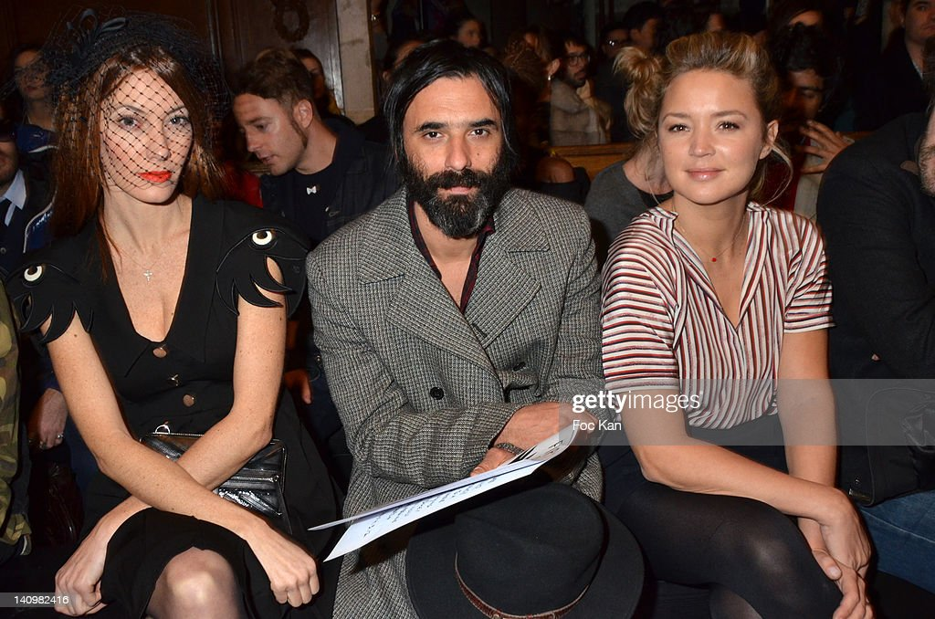 Mareva Galanter Samuel Benchetrit and Virginie Efira attend the JeanCharles de Castelbajac show during Paris Fashion Week Womenswear Fall/Winter 2012...