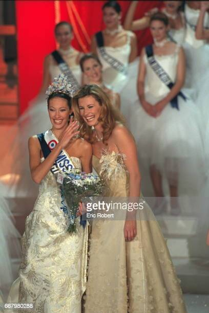 Mareva Galantier Miss Tahiti now Miss France 1999 and Sophie Talmann Miss France 1998