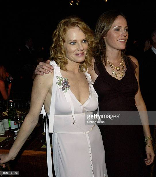 Marg Helgenberger and Jorja Fox during 55th Annual Primetime Emmy Awards Governors Ball at The Shrine Auditorium in Los Angeles California United...