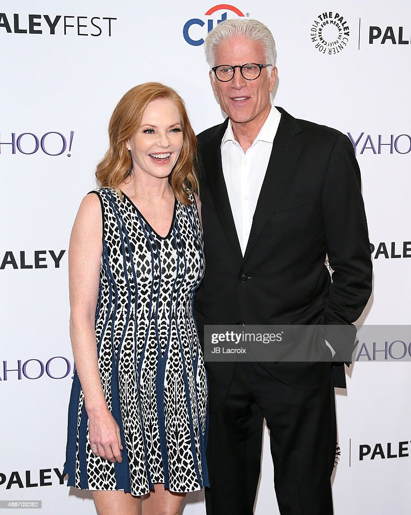 Marg Helgenberger and Ted Danson attend The Paley Center for Media's PaleyFest 2015 Fall TV Preview for 'CSI' Farewell Salute at The Paley Center for Media on September 16, 2015 in Beverly Hills, California.