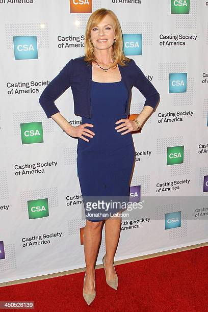 Marg Helgenberger attends the 2013 Casting Society Of America's Artios Awards at The Beverly Hilton Hotel on November 18 2013 in Beverly Hills...