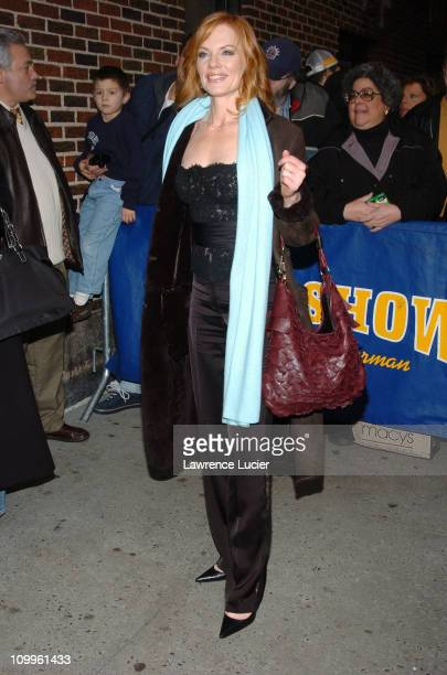 Marg Helgenberger during Marg Helgenberger and Ryan Seacrest Appear at Late Show with David Letterman January 13 2005 at Ed Sullivan Theater in New...