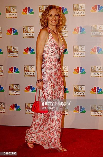 Marg Helgenberger during The 54th Annual Primetime Emmy Awards Press Room at The Shrine Auditorium in Los Angeles California United States