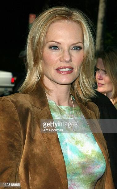 Marg Helgenberger from 'CSI' during CBS Television 20022003 Upfront Party at Tavern On the Green in New York City New York United States