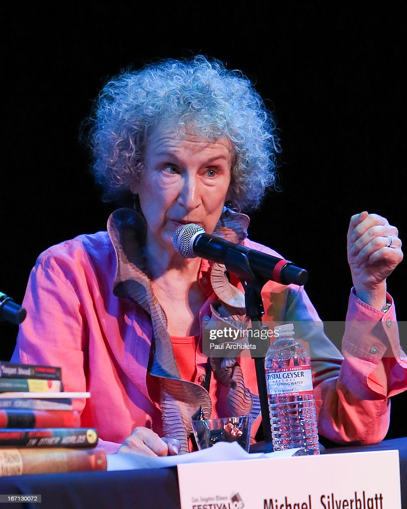 <a gi-track='captionPersonalityLinkClicked' href=/galleries/search?phrase=Margaret+Atwood&family=editorial&specificpeople=570179 ng-click='$event.stopPropagation()'>Margaret Atwood</a> attends the 18th annual Los Angeles Times Festival Of Books - Day 1 at USC on April 20, 2013 in Los Angeles, California.
