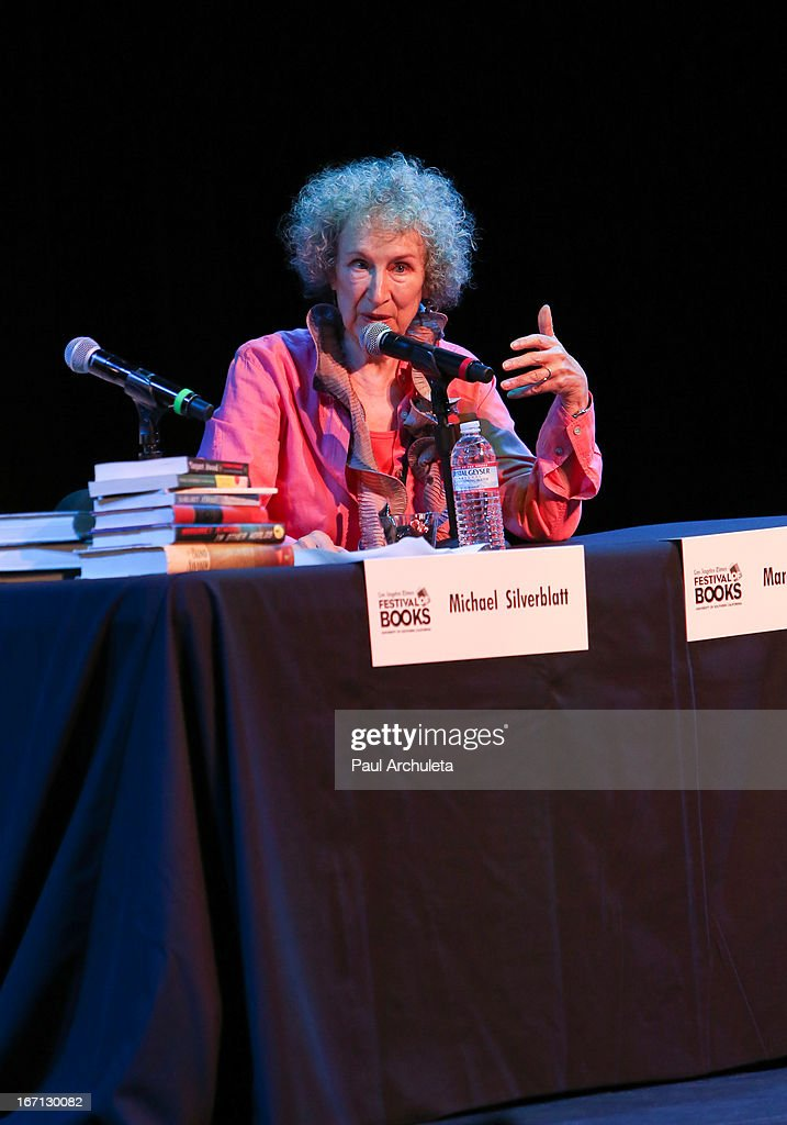 Margaret Atwood attends the 18th annual Los Angeles Times Festival Of Books - Day 1 at USC on April 20, 2013 in Los Angeles, California.