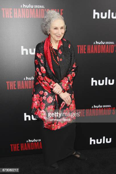 Margaret Atwood attends the Premiere Of Hulu's 'The Handmaid's Tale' at ArcLight Cinemas Cinerama Dome on April 25 2017 in Hollywood California