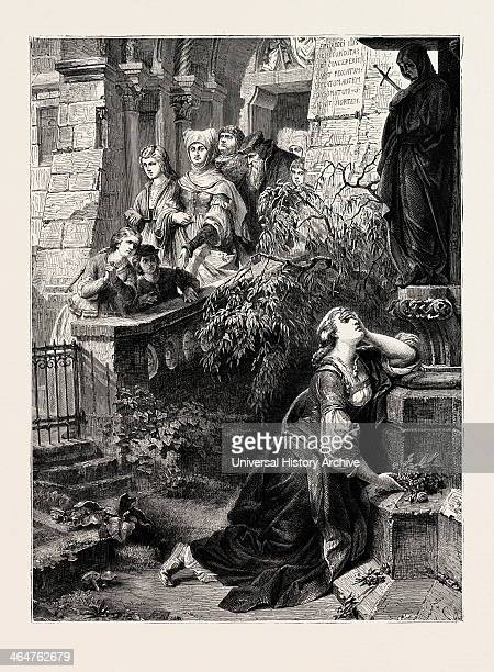 Margaret Before The Image Of The Mater Dolorosa A Scene From Goethe's Faust Goethe 1873 Engraving