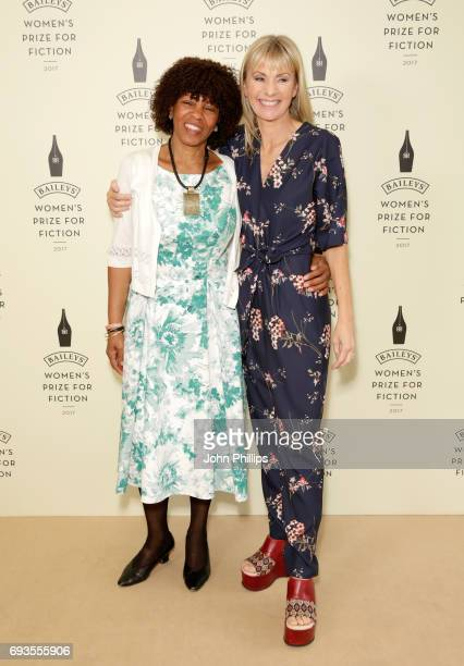 Margaret Busby and host Kate Mosse the cofounder of the Prize attend the Baileys Women's Prize for Fiction 2017 at the Royal Festival Hall on June 7...
