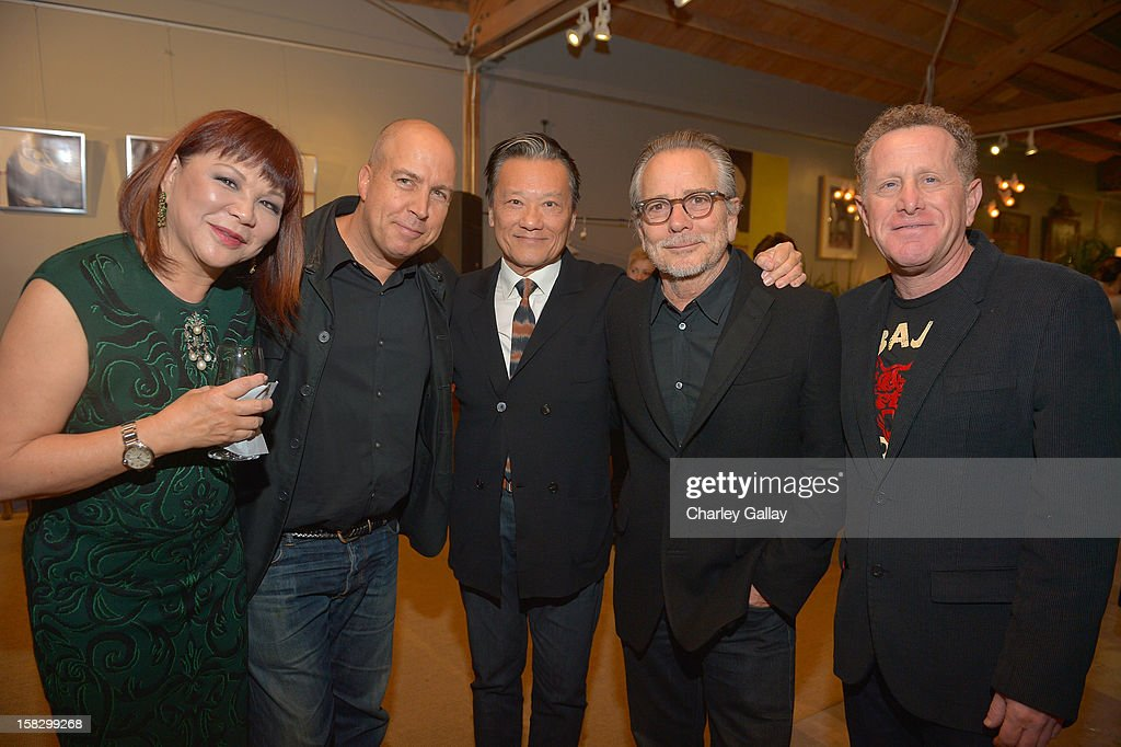 Margaret Chen, Adam Blackman, Joel Chen, David Cruz and Richard Hochberg attend High Fashion/2013 MOE Aliona Kononova Collection, brought to you by the all-new Lincoln MKZ, hosted by Joel Chen and Lyn Winter at C Project on December 12, 2012 in Los Angeles, California.