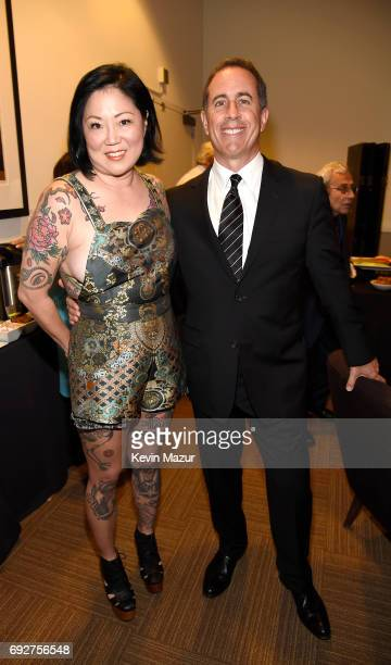 Margaret Cho and Jerry Seinfeld attend the National Night Of Laughter And Song event hosted by David Lynch Foundation at the John F Kennedy Center...