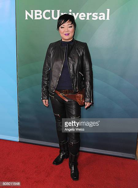 Margaret Cho arrives at the 2016 Winter TCA Tour NBCUniversal Press Tour Day 2 at Langham Hotel on January 14 2016 in Pasadena California