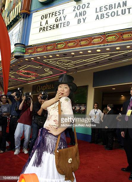Margaret Cho arrives during Outfest 2002 The Gay Lesbian Film Festival at The Orpheum Theatre in Los Angeles California United States