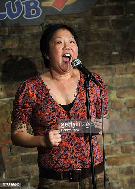 Margaret Cho performs at The Stress Factory Comedy Club on March 24 2016 in New Brunswick New Jersey