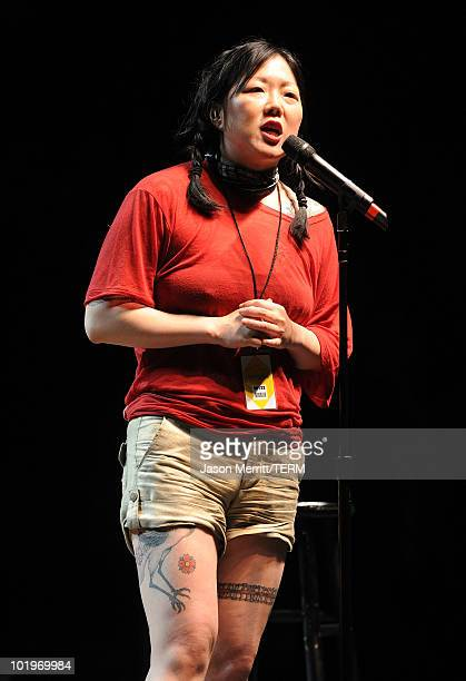 Margaret Cho performs onstage in the Comedy Theatre during Bonnaroo 2010 at The Other Tent on June 10 2010 in Manchester Tennessee