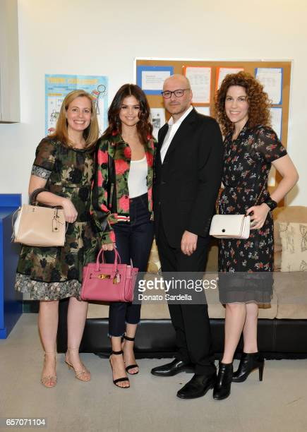 Margaret Coady Executive Director at Coach Foundation Selena Gomez Victor Luis CEO of Coach Inc and Jenni Luke CEO of Step Up attend Selena Gomez and...