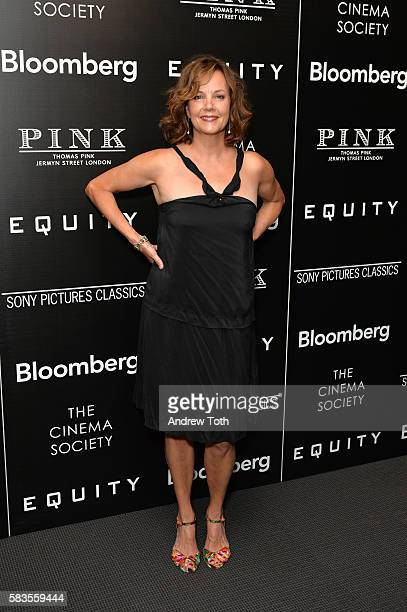 Margaret Colin attends a screening of Sony Pictures Classics' 'Equity' hosted by The Cinema Society with Bloomberg and Thomas Pink on July 26 2016 in...