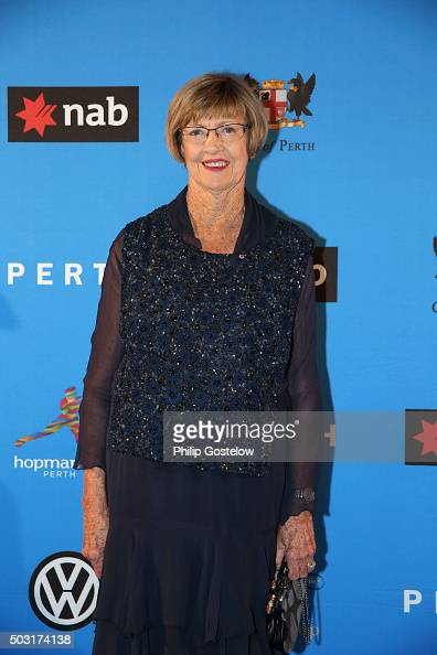 Margaret Court arrives at the 2016 Hopman Cup Player Party at Perth Crown on January 2 2016 in Perth Australia