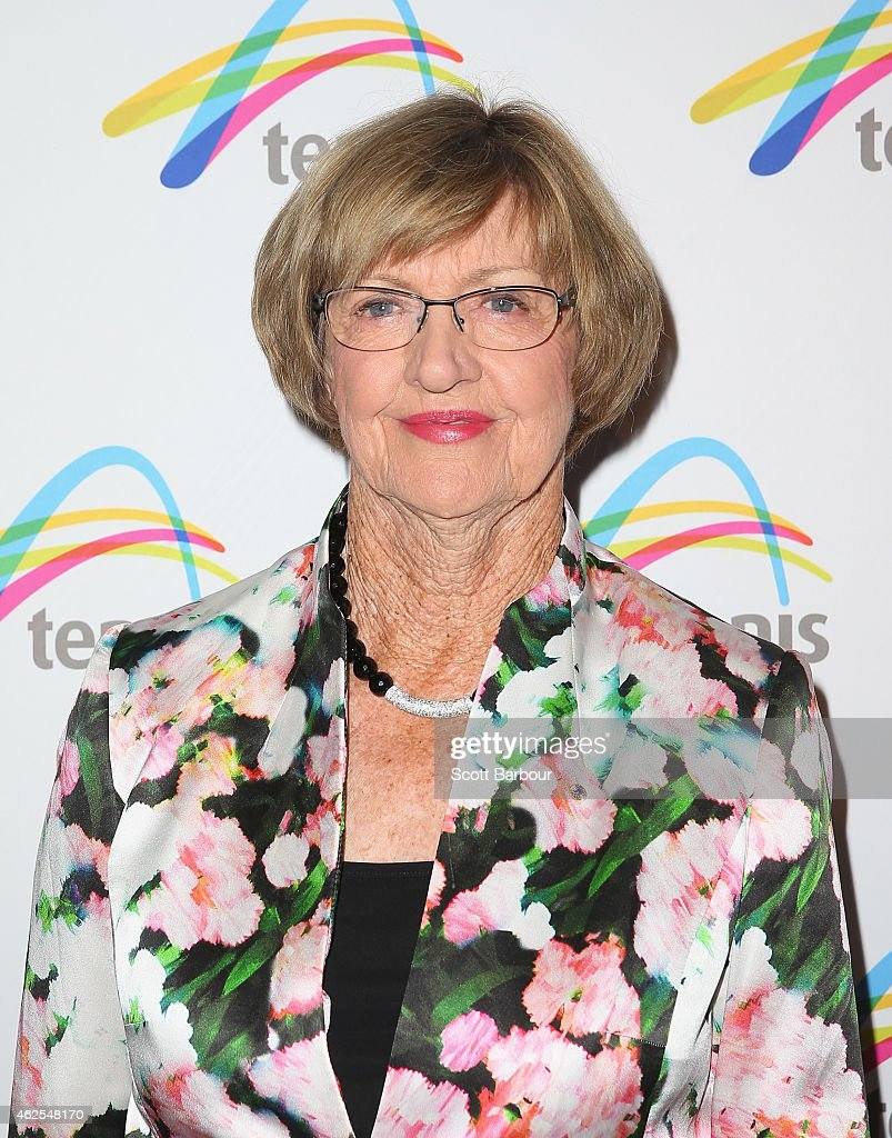 Margaret Court arrives at the annual Legends Lunch during the 2015 Australian Open at Melbourne Park on January 31 2015 in Melbourne Australia The...