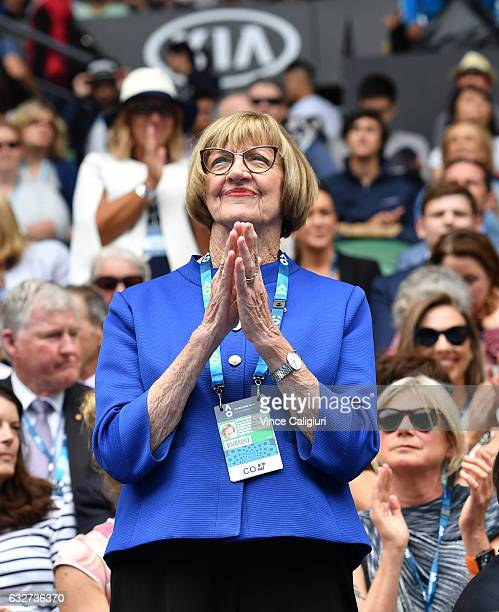 Margaret Court is seen during the Celebration of Inspirational Women as part of women's semifinal day during day eleven of the 2017 Australian Open...