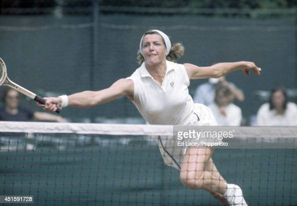 Margaret Court of Australia in action at the London Hard Court Lawn Tennis Championships at the Hurlingham Club in London circa May 1970