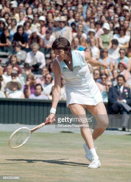 Margaret Court of Australia in action at Wimbledon on 4th July 1973 Court seeded first lost in the semifinals to Chris Evert