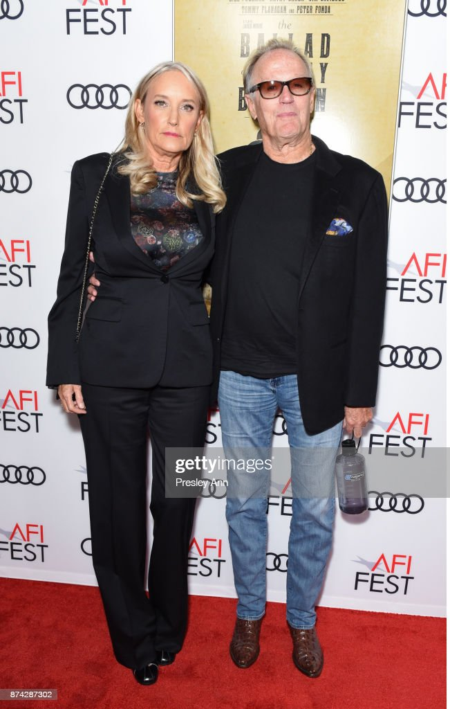 Margaret DeVogelaere (L) and Peter Fonda attend the screening of 'Ballad Of Lefty Brown' at AFI FEST 2017 Presented By Audi at the Egyptian Theatre on November 14, 2017 in Hollywood, California.