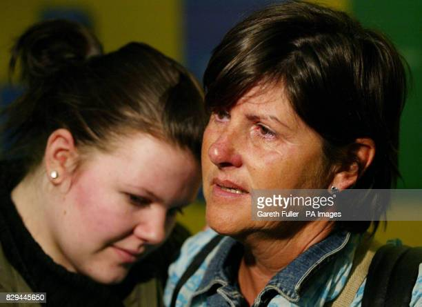 Margaret Folan is met by her family as she returns from Male in the Maldives
