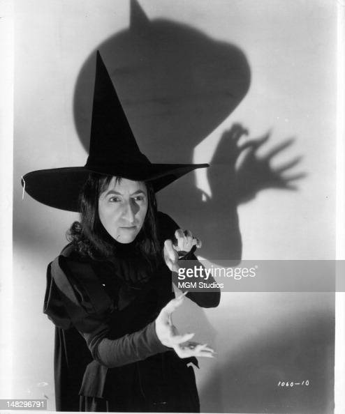 Margaret Hamilton as the Wicked Witch of the West in a scene from the film 'The Wizard Of Oz' 1939