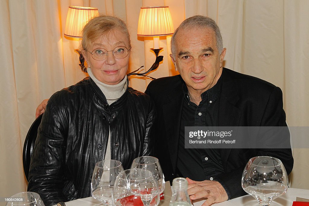 Margaret Memegoz and Alain Terzian attend the Cesar 2013 nominne lunch at Le Fouquet's on February 2, 2013 in Paris, France.