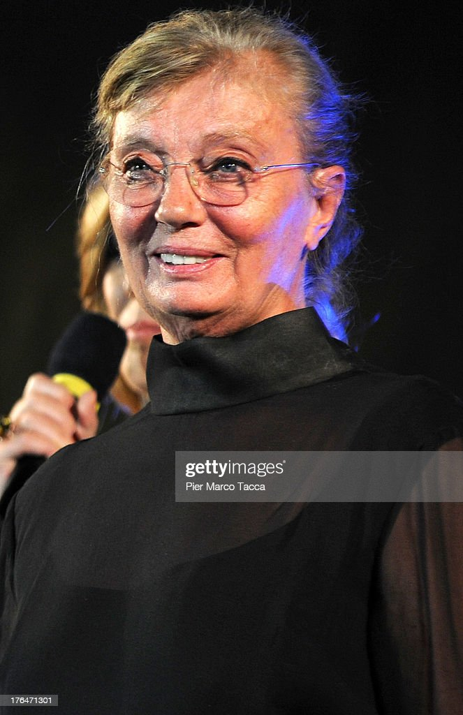 Margaret Menegoz receives Premio Raimondo Rezzonico during the 66th Locarno Film Festival on August 13, 2013 in Locarno, Switzerland.