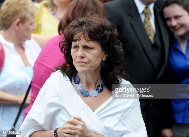 Margaret Mizen mother of murdered schoolboy Jimmy Mizen outside the Our Lady of Lourdes church in Lee southeast London during his funeral
