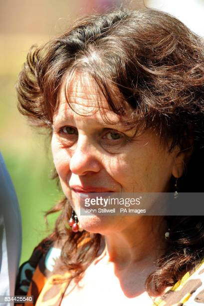 Margaret Mizen talks to the media in the grounds of St Thomas More School in Eltham South East London where her son 16 yearold Jimmy Mizen was a...