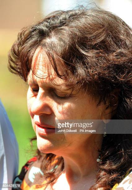 Margaret Mizen talks to the media in the grounds of St Thomas More School in Eltham South East London where their son 16 yearold Jimmy Mizen was a...
