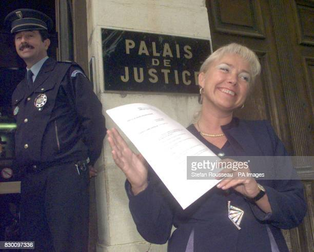 Margaret Moore outside the Palais de Justice in Grasse Southern France today after cricket legend Geoffrey Boycott was given a suspended threemonth...