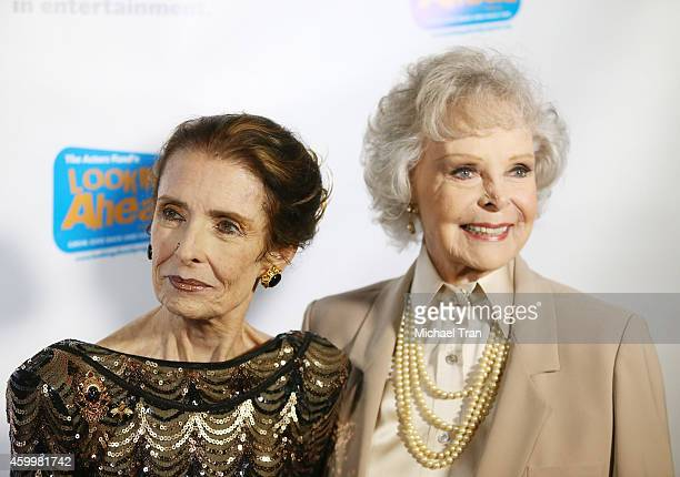 Margaret O'Brien and June Lockhart arrive at The Actor's Fund 2014 The Looking Ahead Awards held at Taglyan Cultural Complex on December 4 2014 in...