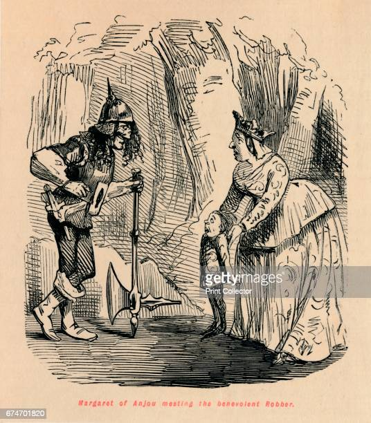 Margaret of Anjou meeting the benevolent Robber' c1860 Margaret of Anjou the wife of Henry VI From The Comic History of England Volume I by Gilbert A...
